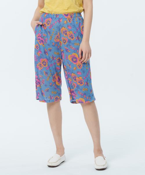 制菌防蟎女雙口袋六分寬褲-天絲-印花-3GUN |男性時尚內衣褲MIT品牌