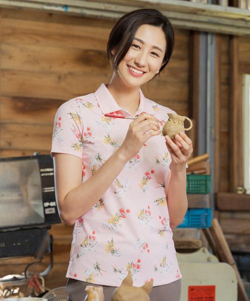 專利吸排女印花短袖POLO-都會休閒-POLO-3GUN |男性時尚內衣褲MIT品牌