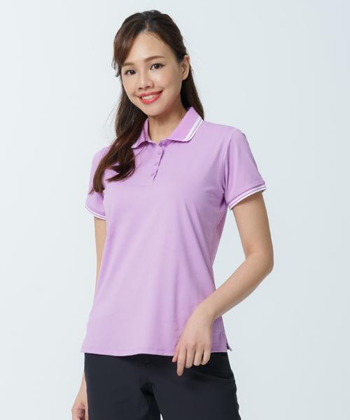 專利吸排女配色短袖POLO-都會休閒-POLO-3GUN |男性時尚內衣褲MIT品牌