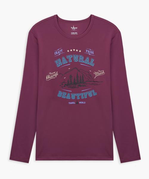 男印花圓領長袖衫-旅行系列-2級印花-3GUN |男性時尚內衣褲MIT品牌