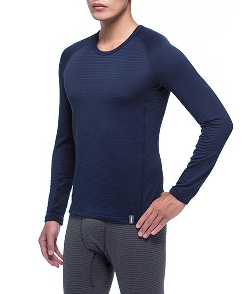 熱循環                            男圓領剪接長袖衫