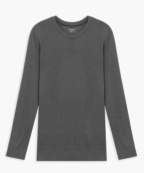 男圓領長袖衫-HEATPLUS-3GUN |男性時尚內衣褲MIT品牌