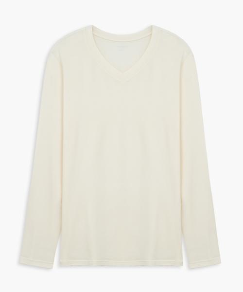 男V領長袖衫-HEATPLUS-3GUN |男性時尚內衣褲MIT品牌