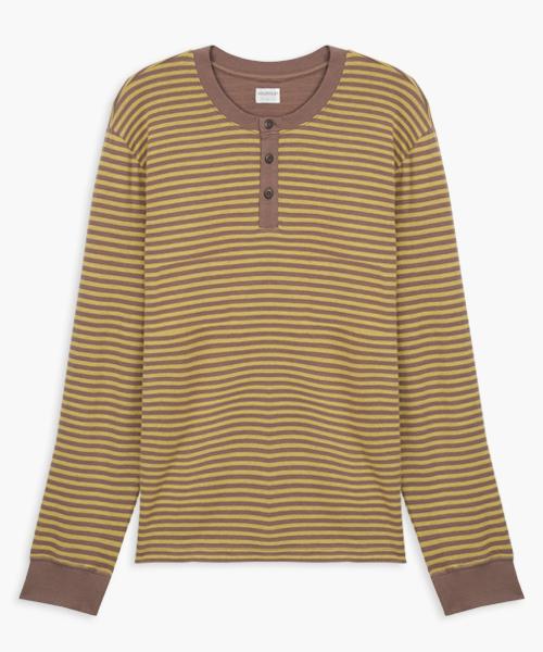 3GunSitename-自由空間-雙層棉-男亨利領長袖衫