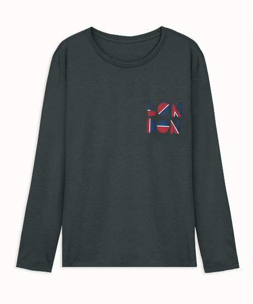 輕彈男幾何倫敦長袖衫-都會休閒-印花T-3GUN |男性時尚內衣褲MIT品牌