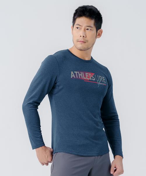 快乾調溫男數碼印花長袖衫-YA系列-享動時尚-3GUN |男性時尚內衣褲MIT品牌