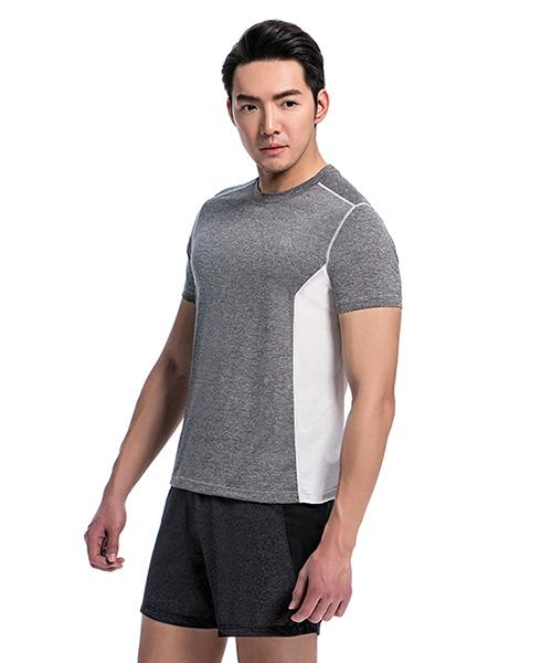 YA系列-排汗密碼                      男剪接圓領短袖衫