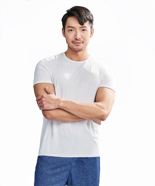 涼爽雲紗男圓領短袖衫-COOLPLUS旅行-3GUN |男性時尚內衣褲MIT品牌