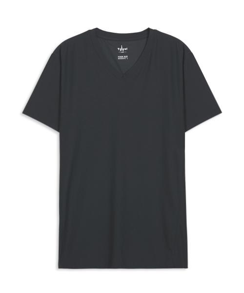 涼爽雲紗男V領短袖衫-COOLPLUS旅行-3GUN |男性時尚內衣褲MIT品牌