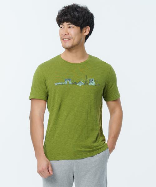 竹節棉男印花圓領短袖衫-自由空間-FLOWING-3GUN |男性時尚內衣褲MIT品牌