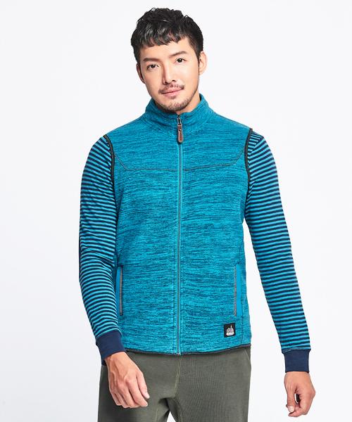 超細刷絨男FLEECE立領背心-都會休閒-背心-3GUN |男性時尚內衣褲MIT品牌