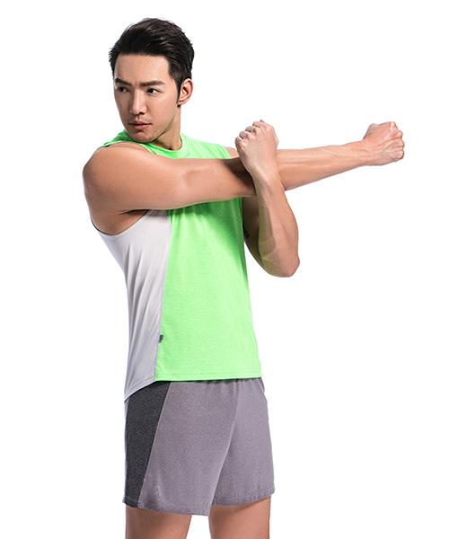 YA系列-排汗密碼                      男剪接寬肩背心
