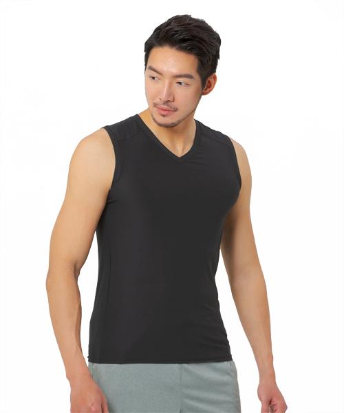 涼爽雲紗男V領寬肩背心-COOLPLUS旅行-3GUN |男性時尚內衣褲MIT品牌