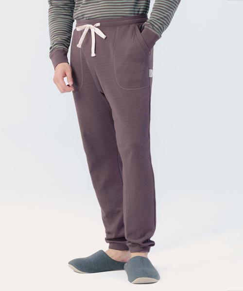 蓬鬆棉柔男束口長褲-自由空間-雙層棉-3GUN  男性時尚內衣褲MIT品牌