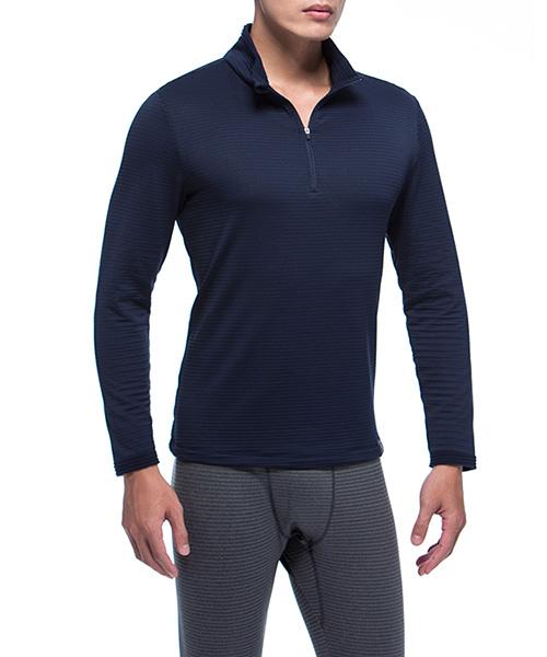 熱循環                            男立領半開襟長袖