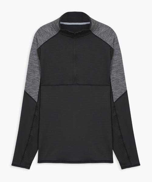 熱循環男拉鍊立領長袖衫-YA系列-排汗密碼-3GUN  男性時尚內衣褲MIT品牌