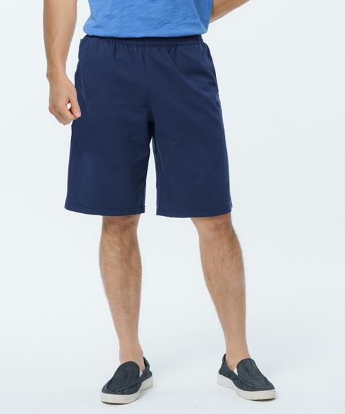 柔軟棉織男附暗袋五分褲-自由空間-魚鱗布-3GUN |男性時尚內衣褲MIT品牌