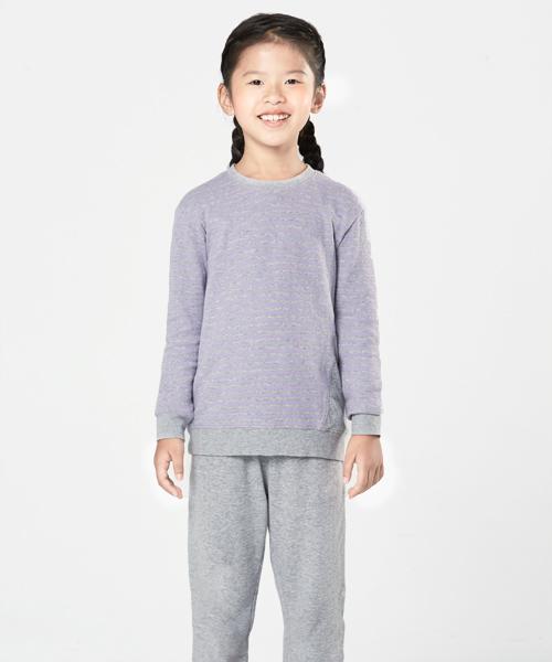 童條紋剪接長袖衫-自由空間-雙層棉-3GUN |男性時尚內衣褲MIT品牌