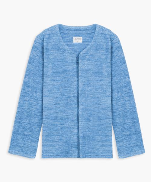 童刷絨開襟長袖衫-自由空間-FLEECE-3GUN |男性時尚內衣褲MIT品牌